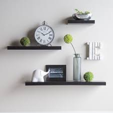 White Corner Wall Shelves White Color Floating Wall Shelves Home Decorations Install