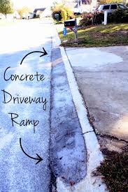 castle diy how to pour a concrete driveway ramp home ideas