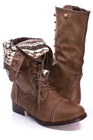 womens combat boots uk taupe faux leather lace up fold combat boots s boots