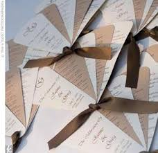 paper fan wedding programs diy wedding invitations programs and more