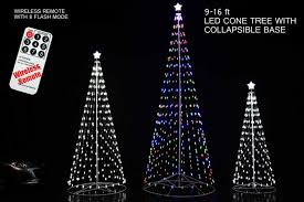 remote outdoor led cone tree