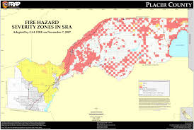 California Maps Cal Fire Placer County Fhsz Map