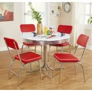50s Dining Chairs Retro Dining Chairs Set Of 2 Red Walmart Com