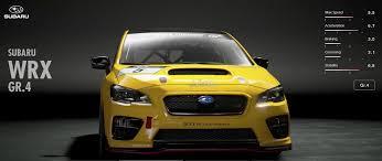 yellow subaru wrx subaru wrx gr 4 gran turismo sport car list