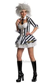 beetlejuice halloween fancy dress costume ladies womens