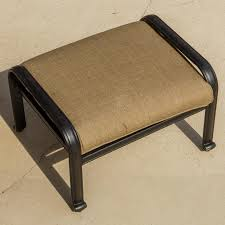 rosedown cast aluminum patio ottoman modern outdoor footstools and