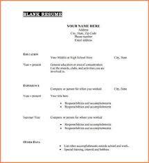 free pdf resume template 7 pdf resume template resume blank sheet