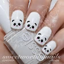 best 25 panda nail art ideas on pinterest diy kawaii nails
