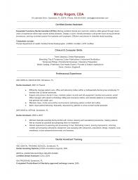 Dental Assistant Resumes Samples by Sample Resume For Dental Assistant Free Resume Example And