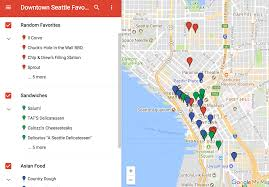 Downtown Seattle Map by Andy U0027s Favorite Things Downtown Seattle Favorite Lunch Spots Map