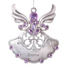 birthstone ornament personalized birthstone angel pewter ornament kimball