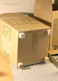 How To Make A Cardboard Desk Diy Cardboard Play Mailbox Little Red Window