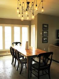ideas rustic dining table with parson chairs on beige lively room