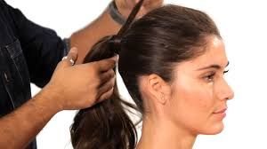 ponytail hair how to do a volumized ponytail salon hair tutorial