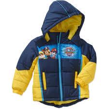 nickelodeon paw patrol toddler boy hooded puffer jacket walmart com