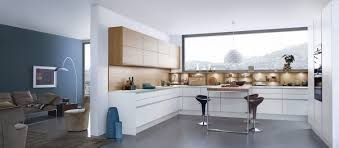 decorations white kitchen modern design with square tiled