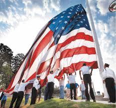 Flag Of Oklahoma Massive Flag Waves Over Drumright Oklahoma News Ok