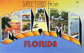 greetings from miami florida large letter postcard flickr