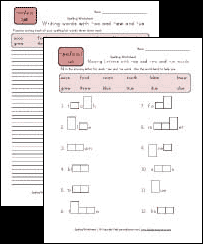 spelling worksheets for words with oo ew and ue pattern all