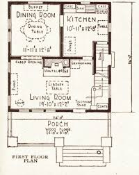 1930s Bungalow Floor Plans Foursquare Houses Sears Modern Homes