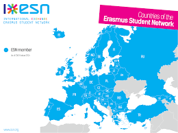 Where Is Italy On The Map by Find Your Esn Section Erasmus Student Network