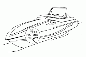 fast boat coloring page for kids transportation coloring pages