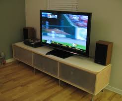 Ikea Tv Furniture Long Tv Stand With Mount And Glass Cabinet Door Ikea Decofurnish