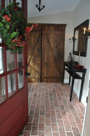 Brick Floor Kitchen by 70 Best Kitchen And Dining Room Brick Tile Floors Images On