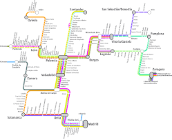 Madrid Airport Map Renfe Rail Network Map