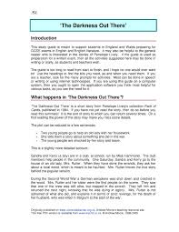 ks4 the darkness out there by penelope lively teachit english