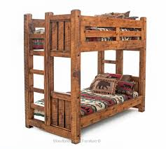 Solid Wood Bunk Beds With Storage Post Beam Solid Wood Bunk Bed Barnwood Furniture Pinterest