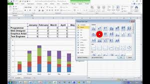 cara membuat grafik integral di excel how to create a stacked chart in excel 2010 youtube