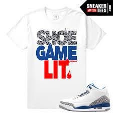 jordan 3 true blue elephant print t shirt sneaker match tees