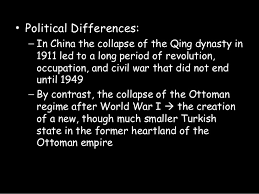 The Decline And Fall Of The Ottoman Empire Decline Of The Ottoman And Qing Troubles External Threats