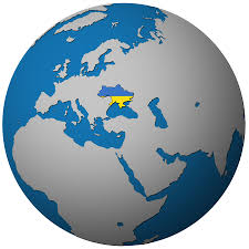 Ukraine Flag Ukraine Flag On Globe Map Sldinfo