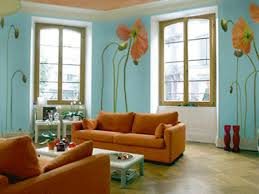 comfortable wall color ideas for living room with black furniture