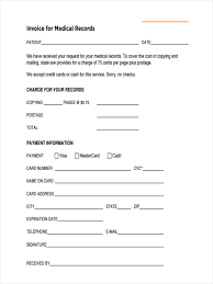 free sample invoice 5 medical invoice form samples free sample example format download