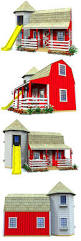 barn u0026 silo playhouse plan red barns playhouses and front porches