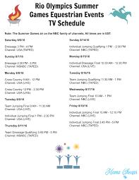 rio olympics summer games gymnastics events tv schedule free