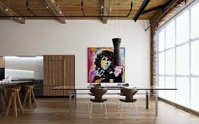 modern apartment dining room design ideas highlighting cool rustic