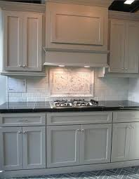 grey kitchen cabinets with glass backsplash light gray for sale