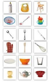 noms d ustensiles de cuisine mémo loto les ustensiles de cuisine cubes petits pois