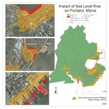 Maps Portland by Maps Maine Communities Affected Sea Level Rise