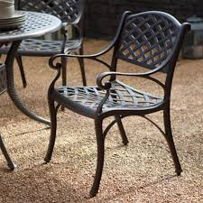 Cast Iron Bistro Chairs Retro Aluminum Patio Furniture Interior Design