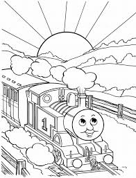 cool graphic coloring thomas train suitable