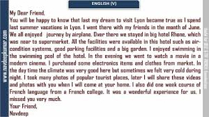 french essay sample french letters 8 youtube