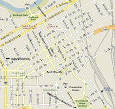 fort worth map downtown fort worth map