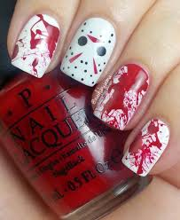 nails by jema jason voorhees u0026 blood splatter nails u0026 tutorials