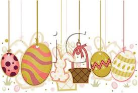 easter ornaments easter ornaments for decorating royalty free clipart image