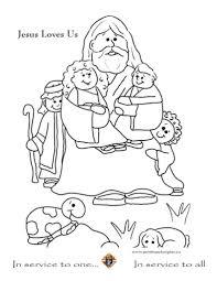 jesus loves the little children coloring page c melonheadz